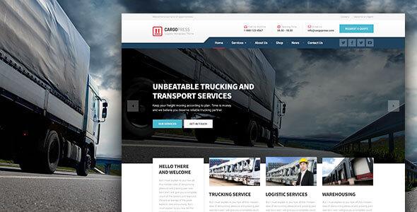 قالب کارگو پرس | CargoPress - پوسته چند منظوره حرفه ای