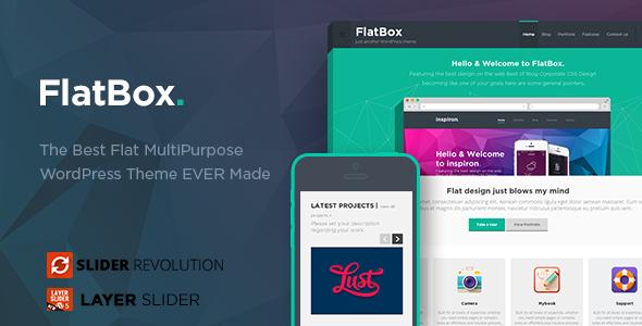قالب FlatBox - تم وردپرس چند منظوره