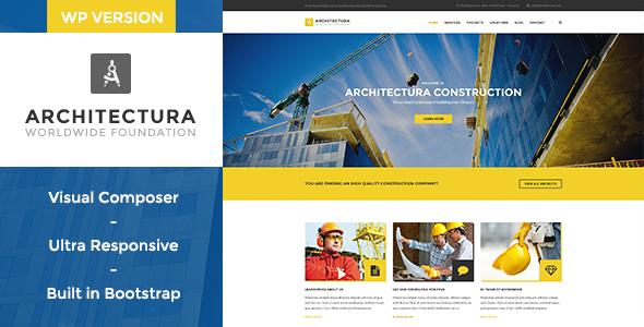 قالب Architectura - قالب وردپرس شرکت ساختمانی