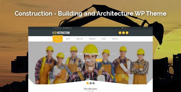 قالب Construction - قالب وردپرس معماری و ساخت و ساز