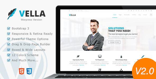 قالب Vella Business - قالب کسب و کار مدرن