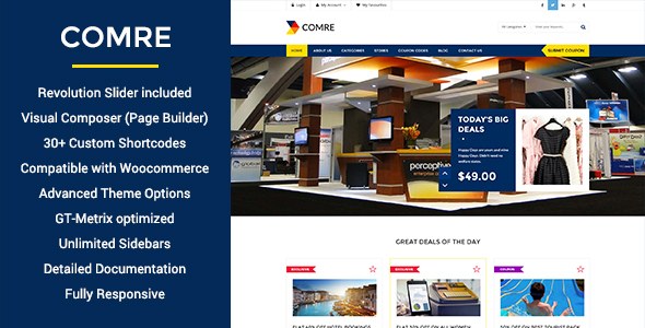 Comre - قالب وردپرس کدهای کوپن و شرکت های وابسته