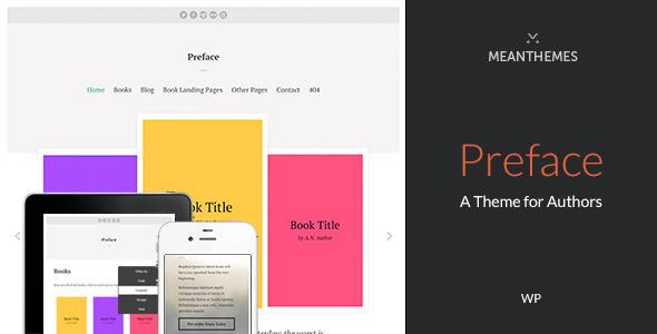 قالب Preface - قالب وردپرس برای نویسنده ها
