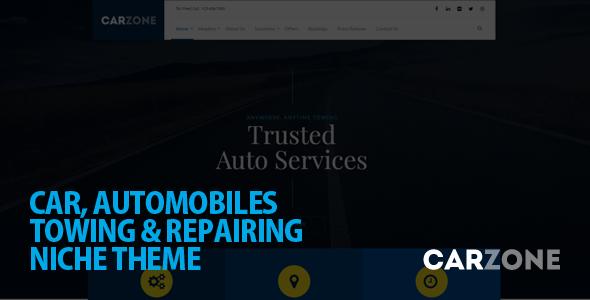 قالب Car Zone - قالب وردپرس بکسل و تعمیر خودرو
