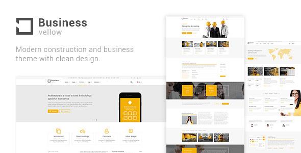 قالب Yellow Business - قالب وردپرس شرکت ساختمان سازی
