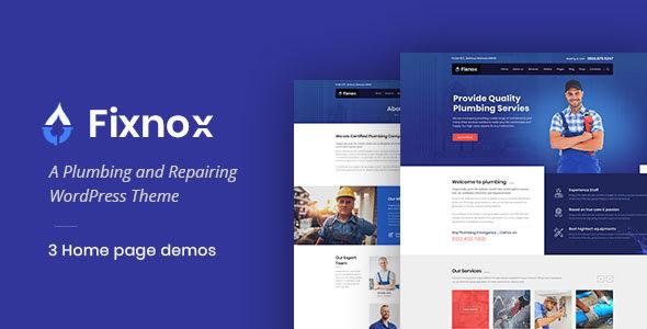 قالب Fixnox - قالب وردپرس لوله کشی کامل