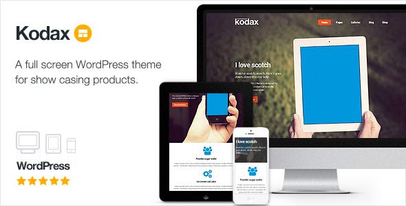 Kodax - صفحه فرود تمام صفحه
