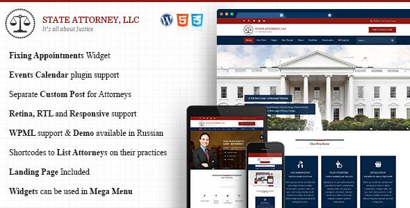 قالب Attorney & Lawyer - قالب سایت وکیل و وکالت