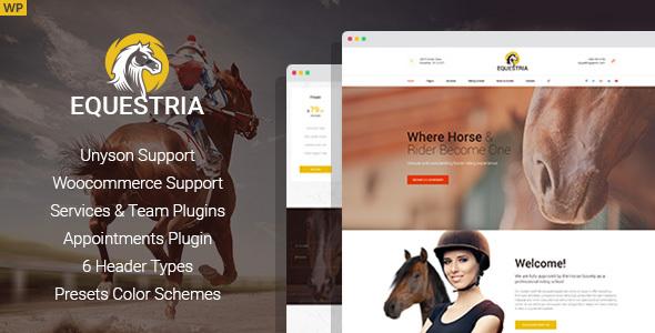 قالب Equestria - پوسته وردپرس باشگاه اسب سواری