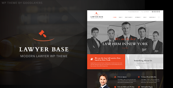 قالب Lawyer Base - قالب وردپرس وکیل و کالت