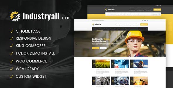 قالب Industryall - قالب ورپرس صنعتی