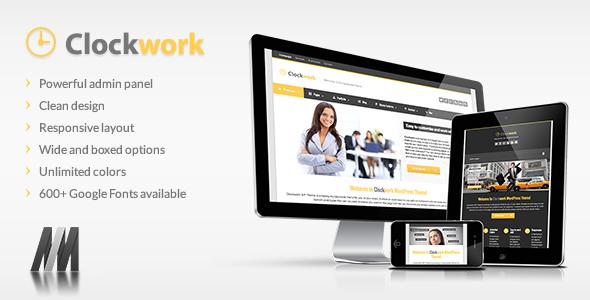 Clockwork WP - قالب وردپرس کسب و کار
