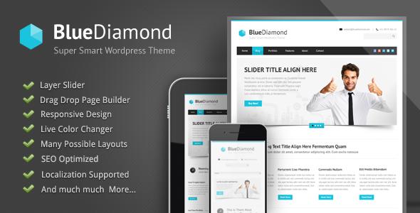 Blue Diamond - قالب وردپرس شرکتی