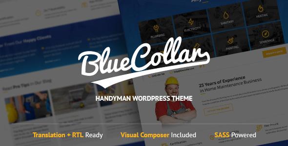 قالب Blue Collar - قالب وردپرس دستیار