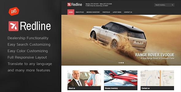 قالب Redline - قالب سایت نمایندگی اتومبیل