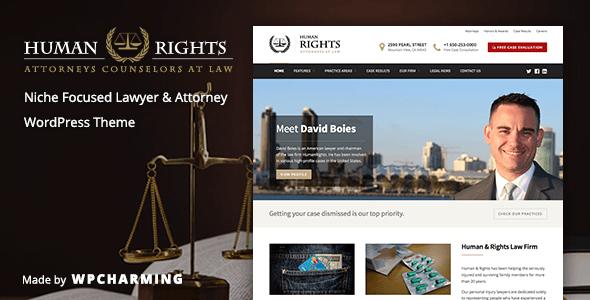 HumanRights - قالب وردپرس وکیل و دادستان