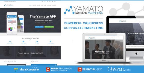 قالب YAMATO - قالب وردپرس شرکتی