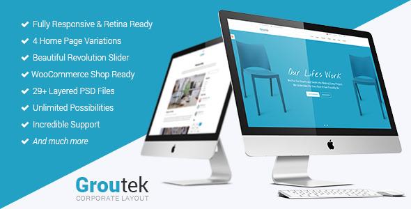Groutek - قالب وردپرس کسب و کار