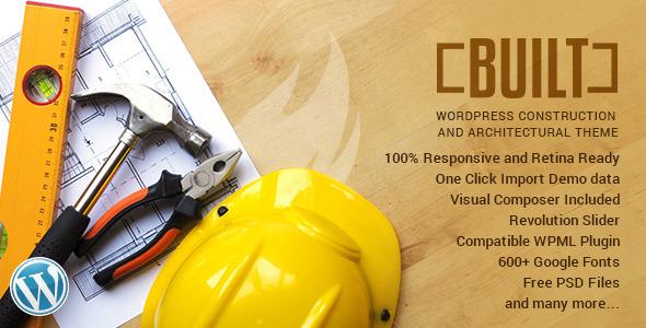 BUILT - قالب وردپرس کسب و کار ساختمانی