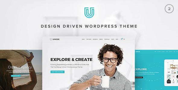 قالب یونیکون | Unicon - قالب چند منظوره Design-Driven