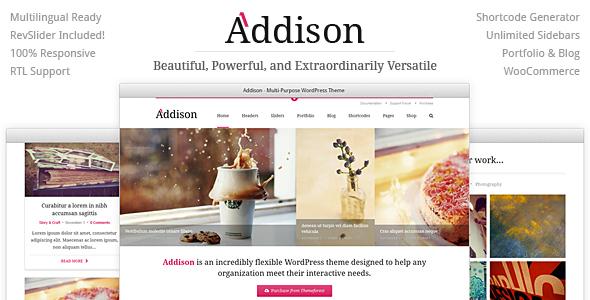 قالب Addison - قالب وردپرس چند منظوره ویژه