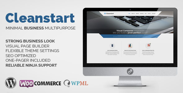 قالب CLEANSTART Business - قالب وردپرس چندمنظوره کسب و کار