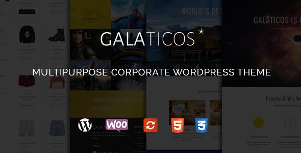 قالب Galaticos - قالب وردپرس چند منظوره شرکتی
