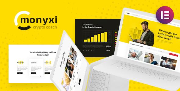 قالب Monyxi - قالب وردپرس ترید ارزهای دیجیتال