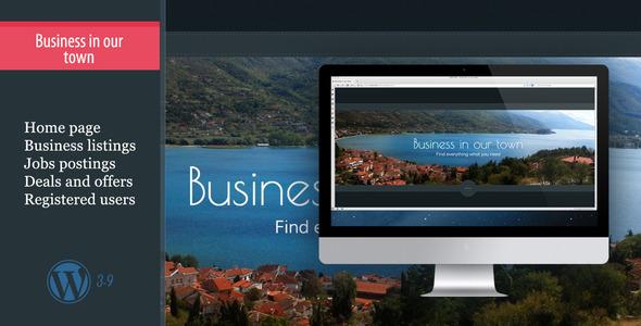 قالب Business In Our Town - قالب وردپرس لیست کسب و کار، معاملات و مشاغل
