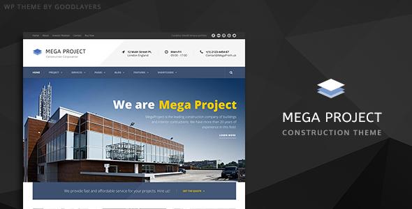 Mega Project - قالب وردپرس شرکت ساختمانی