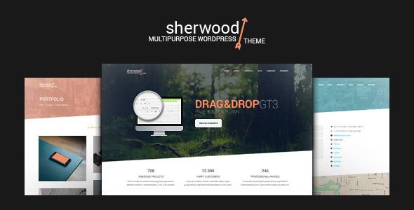 قالب Sherwood - قالب وردپرس تک صفحه ای و چند صفحه ای