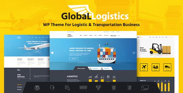 قالب Global Logistics - قالب وردپرس حمل و نقل و انبارداری
