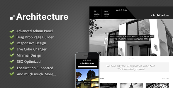 قالب Architecture - قالب وردپرس