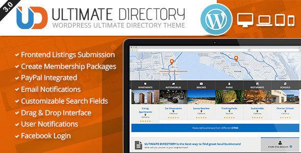 قالب Ultimate Directory - قالب وردپرس ریسپانسیو