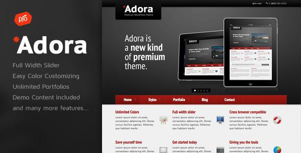 قالب Adora - قالب وردپرس کسب و کار و نمونه کار