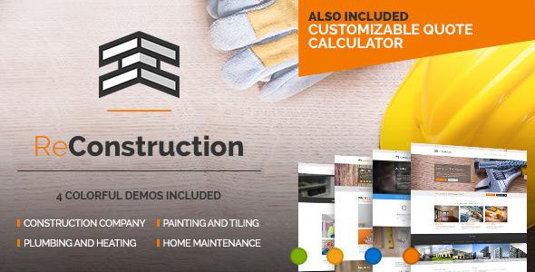 قالب ReConstruction - قالب سایت ساخت و ساز