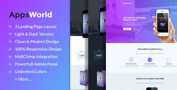 قالب AppsWorld - قالب وردپرس صفحه فرود اپلیکیشن
