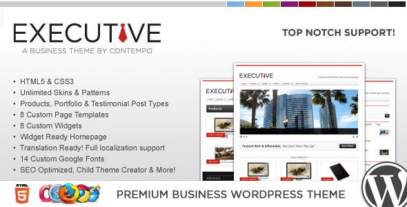 قالب WP Executive - قالب کسب و کار و نمونه کارها