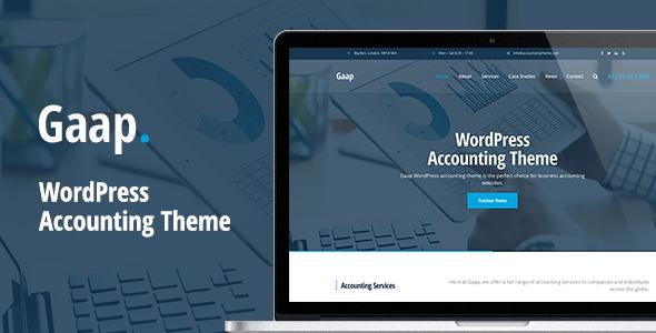 قالب Gaap - قالب سایت حسابداری برای وردپرس