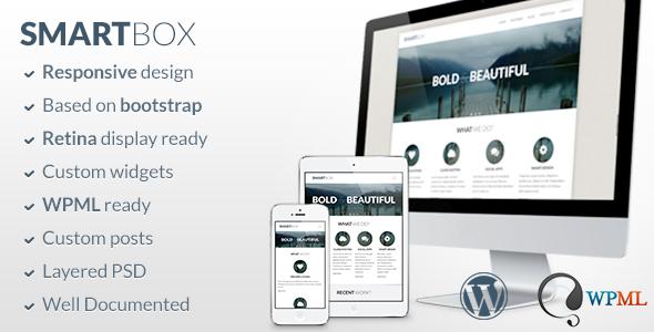 قالب SmartBox - قالب وردپرس بوت استراپ