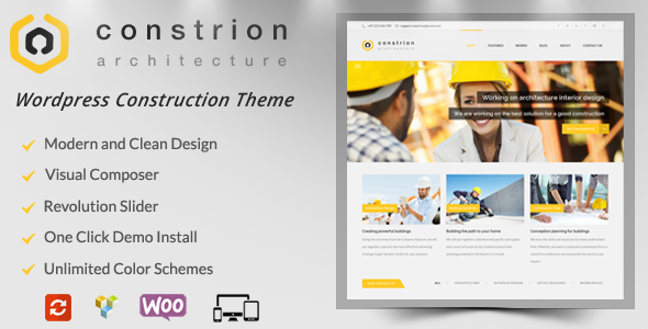 Constrion - قالب وردپرس ساخت و ساز