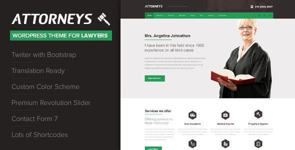قالب Attorney - قالب وردپرس شرکتی