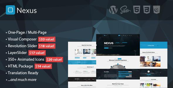 قالب Nexus - قالب وردپرس تک صفحه ای و چند صفحه ای کسب و کار
