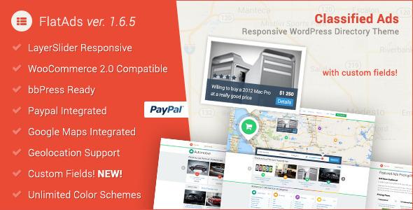 قالب FlatAds - قالب وردپرس تبلیغات و آگهی