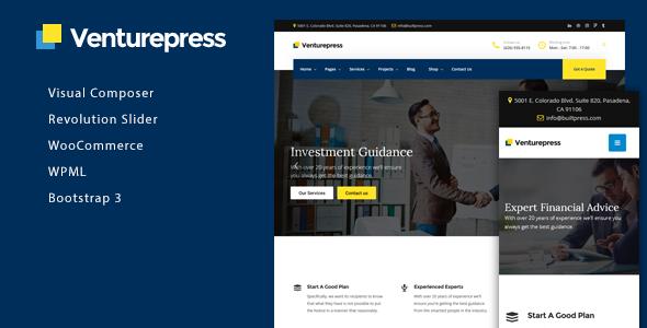 قالب VenturePress - قالب شرکتی وردپرس
