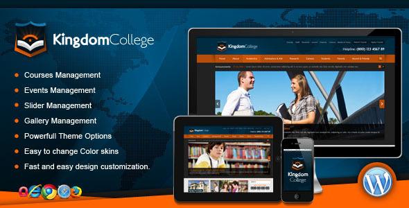 قالب Kingdom College - قالب وردپرس آموزش