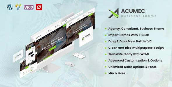 قالب Acumec - قالب وردپرس چند منظوره کسب و کار