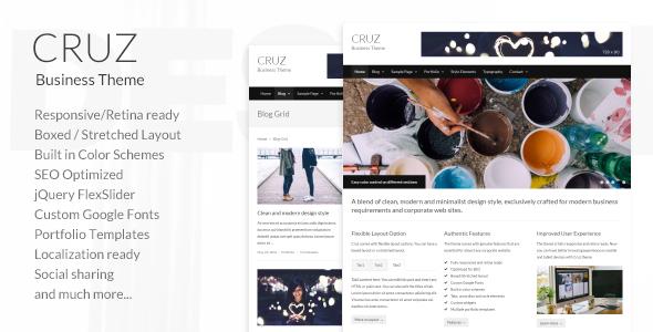 قالب Cruz - قالب سایت کسب و کار مدرن