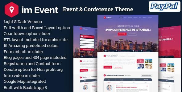 قالب im Event - قالب وردپرس رویداد و کنفرانس