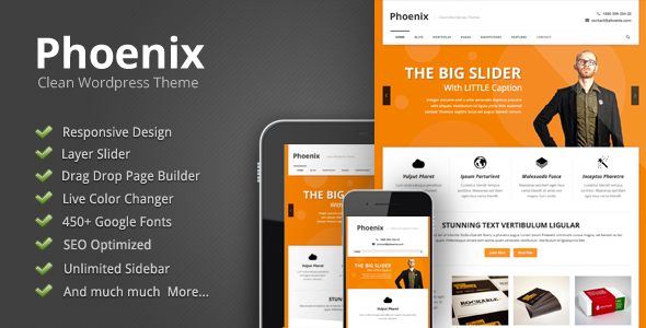 قالب Phoenix - قالب وردپرس ریسپانسیو ساده